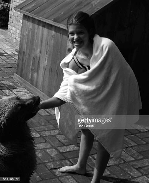 Ari Meyers attends an exclusive photo session on April 21 1983 in Beverly Hills California