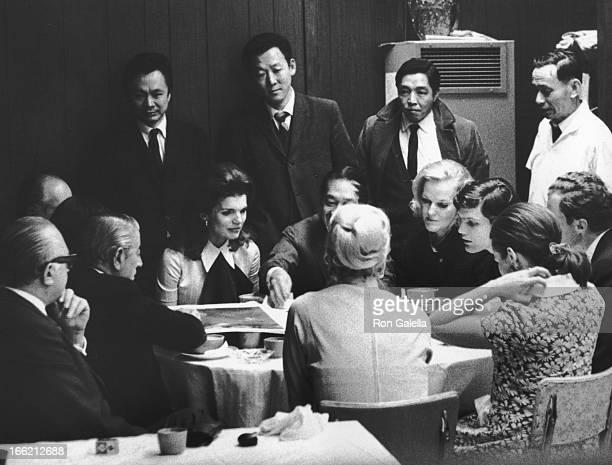 Ari Onassis Jackie Onassis IM Pei and Doris Duke sighted on February 19 1969 at Szechuan Restaurant in New York City