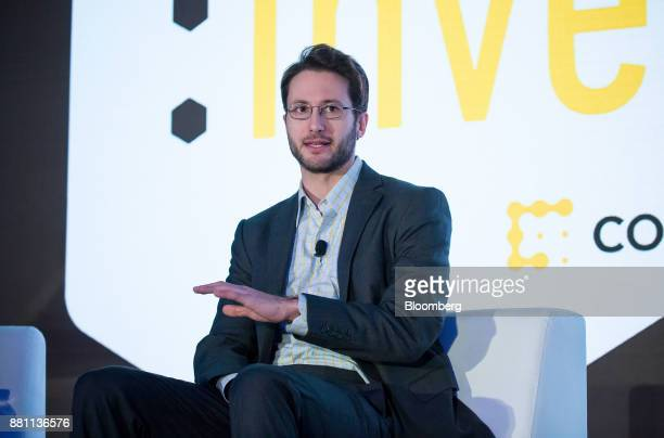 Ari Paul chief investment officer and managing partner of BlockTower Capital speaks during the Consensus Invest event in New York US on Tuesday Nov...