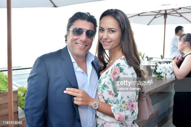 Ari Pereliani and Tatiana Pereliani attend Breguet Marine Collection Launch at Little Beach House Malibu on July 11 2019 in Malibu California