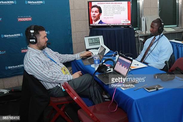 Ari RabinHavt interviews Tallahassee Mayor Andrew Gillum on SiriusXM The Agenda on July 27 2016 in Philadelphia Pennsylvania