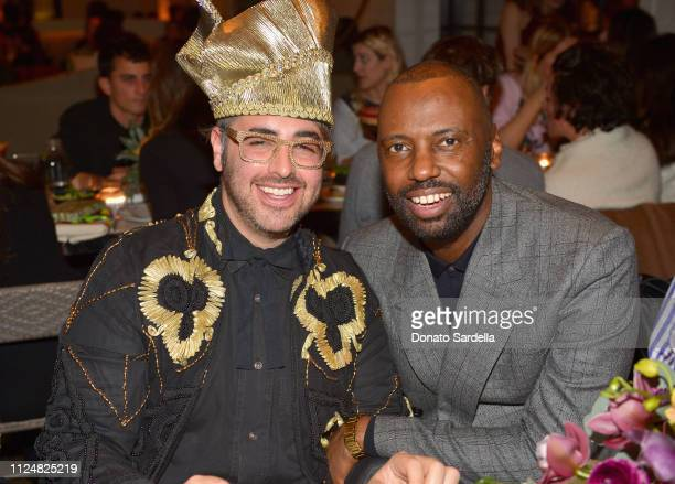 Ari Seth Cohen and Stephen Galloway attend Liz Goldwyn and MATCHESFASHIONCOM celebrate the launch of Frieze LA at Gracias Madre on February 13 2019...