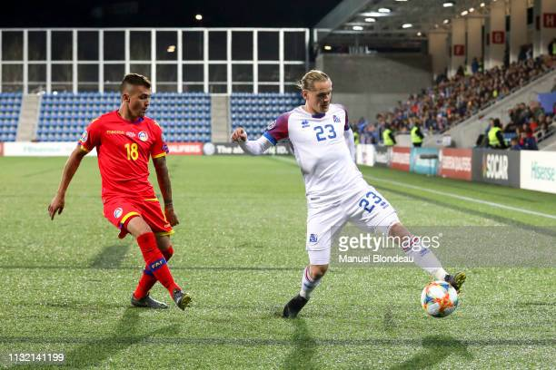 Ari Skulason of Iceland during the Qualifying European Championship match between Andorra and Iceland at Estadi Nacional on March 22 2019 in Andorra...
