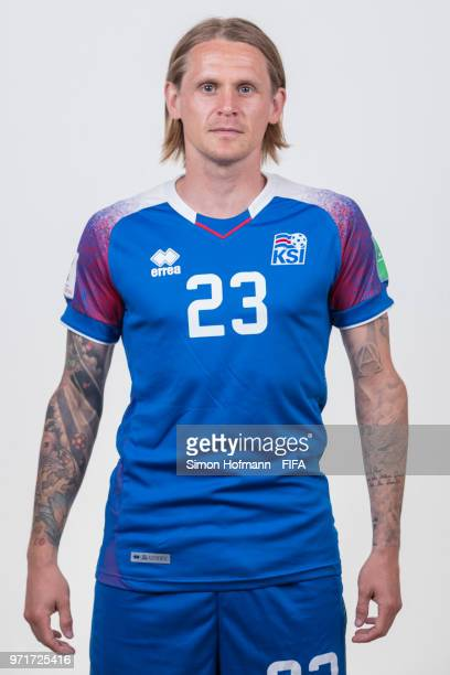 Ari Skulason of Iceland poses during the official FIFA World Cup 2018 portrait session at Resort Centre Nadezhda on June 11 2018 in Gelendzhik Russia