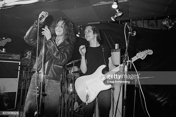 Ari Up and Kate Korus of The Slits perform on stage at The Roxy London 1977