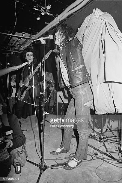 Ari Up and Tessa Pollitt of The Slits perform on stage at The Roxy London 1977