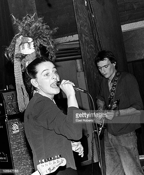 NEW YORK NOVEMBER 15 Ari Up of punk band the Slits performs on stage at Club 57 on November 15th 1980 in New York