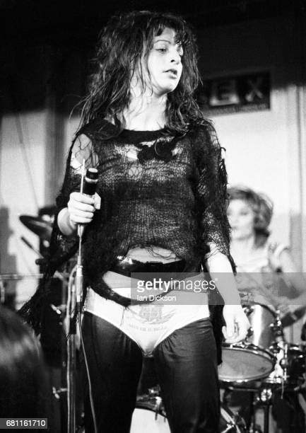 Ari Up of The Slits performing on stage at The Coliseum Harlesden London 11 March 1977