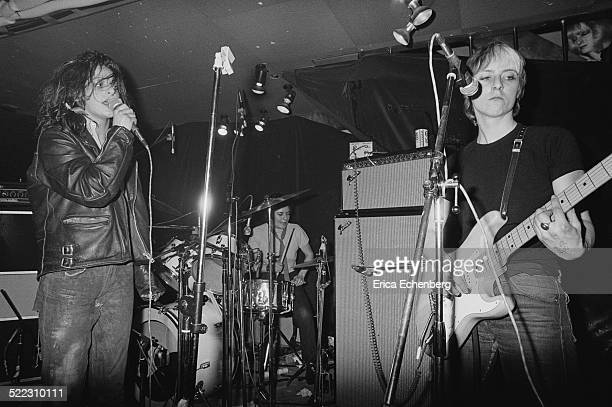 Ari Up Palmolive and Kate Korus of The Slits perform on stage at The Roxy London 1977