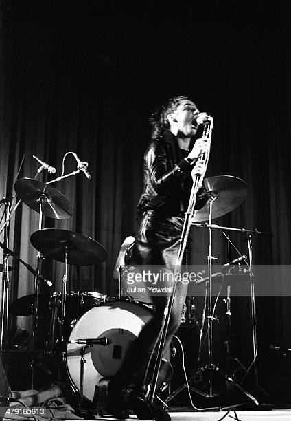 Ari Up performing with British punk group The Slits at the Coliseum Harlesden London 11th March 1977 The group are supporting The Clash