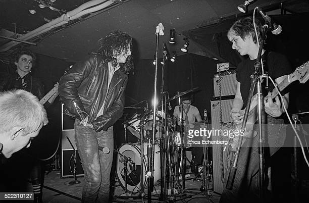 Ari Up Tessa Pollitt Palmolive and Kate Korus of The Slits perform on stage at The Roxy London 1977