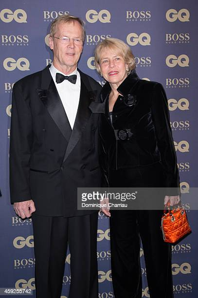 Ari Vatanen and his wife attend the GQ Men Of The Year Awards 2014 Photocall In Paris at Musee d'Orsay on November 19 2014 in Paris France