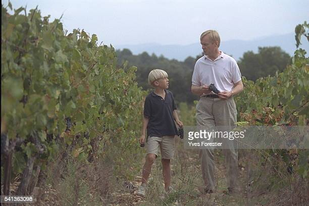 Ari Vatanen has vineyards in the Luberon Here he is with his son Max