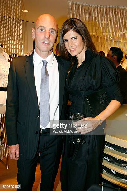 Ari Zlotkin and Anne Fontaine attend ANNE FONTAINE honors FRAN DRESCHER and Cancer Schmancer at 677 Madison Ave on September 10 2008 in New York City