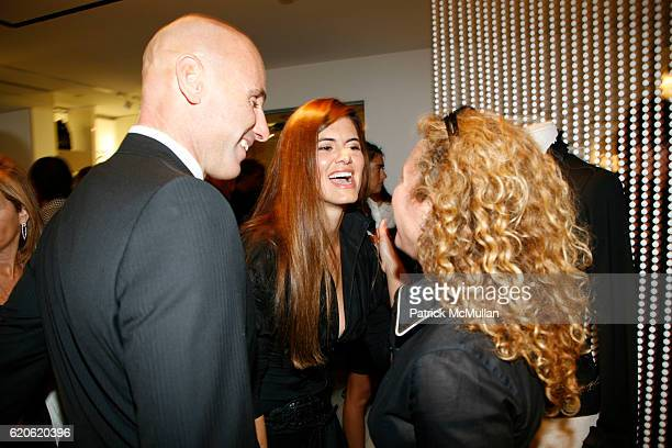 Ari Zlotkin Anne Fontaine and Guest attend ANNE FONTAINE honors FRAN DRESCHER and Cancer Schmancer at 677 Madison Ave on September 10 2008 in New...