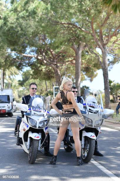 Aria Crescendo is seen during the 71st annual Cannes Film Festival at on May 11 2018 in Cannes France
