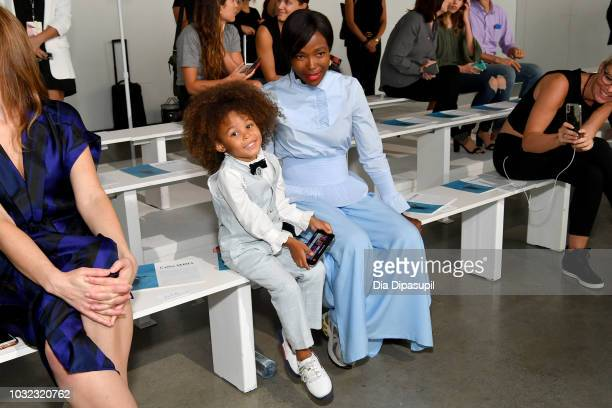 Aria De Chicchis and Pam Mbatani attend the C Plus Series front Row during New York Fashion Week The Shows at Gallery I at Spring Studios on...