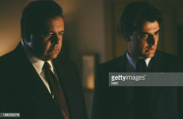 LAW ORDER 'Aria' Episode 3 Air Date Pictured Paul Sorvino as Detective Philip Cerreta Chris Noth as Detective Mike Logan