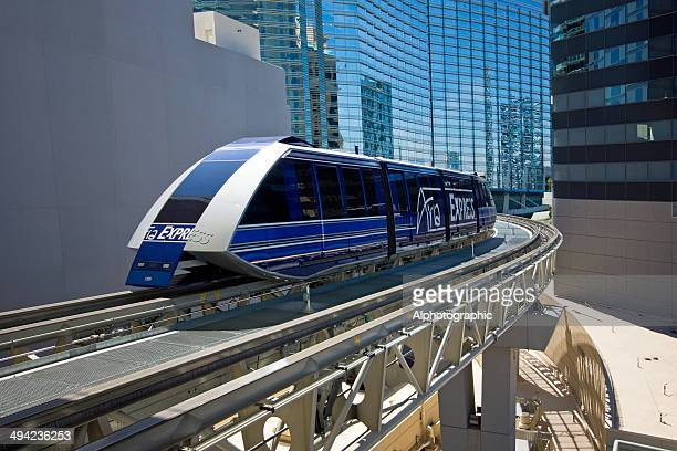 aria express las vegas - monorail stock pictures, royalty-free photos & images