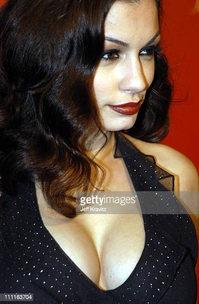 Aria Giovanni during Frederick's of Hollywood Debuts Fall 2003 Collection at Smashbox Studios in Culver City, CA, United States.