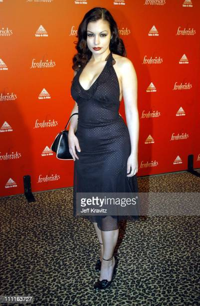 Aria Giovanni during Frederick's of Hollywood Debuts Fall 2003 Collection at Smashbox Studios in Culver City CA United States