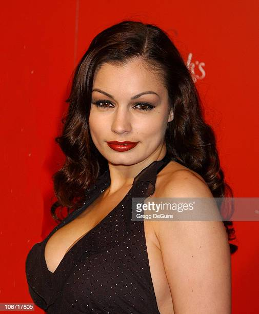 Aria Giovanni during Smashbox Fashion Week Los Angeles Frederick's of Hollywood Fashion Show Fall 2003 Collection to benefit Expedition Inspiration...