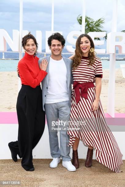 Ariadna Gil Alfonso Dosal and Paulina Davila attend Aqui En La Tierra Photocall during the 1st Cannes International Series Festival on April 10 2018...