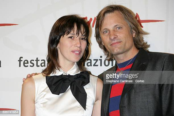 Ariadna Gil and Viggo Mortensen attend the photo call for Alatriste during the 1st Rome Film Festival