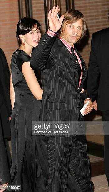 Ariadna Gil and Viggo Mortensen during 1st Annual Rome Film Festival 'Alatriste' Premiere in Rome Italy