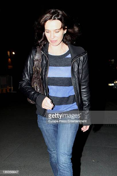 Ariadna Gil is seen leaving a restaurant on December 8 2011 in Madrid Spain