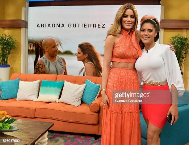 Ariadna Gutierrez and Francisca Lachapel attends Univision's 'Despierta America' on May 2 2017 in Miami Florida