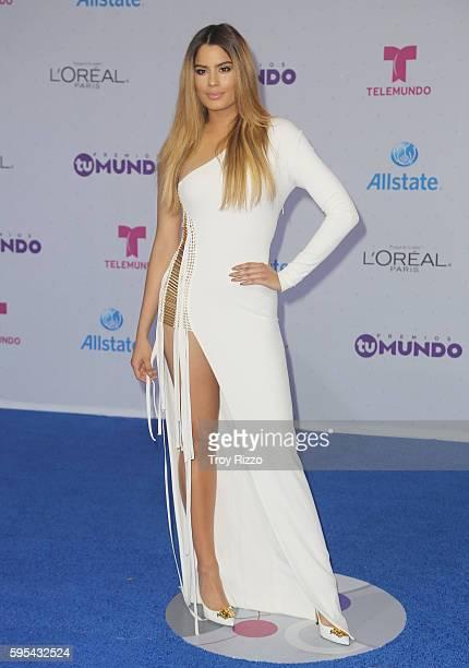 Ariadna Gutierrez arrives at Telemundo's Premios Tu Mundo 'Your World' Awards at American Airlines Arena on August 25 2016 in Miami Florida