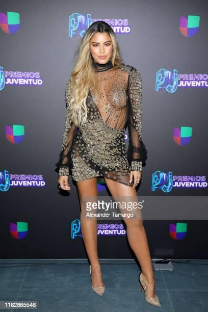 Ariadna Gutierrez attends Premios Juventud 2019 at Watsco Center on July 18 2019 in Coral Gables Florida