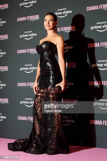 Ariadna Romero attends the premiere of the movie Chiara Ferragni Unposted on November 19 2019 in Rome Italy