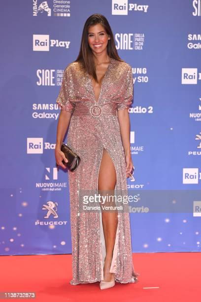 Ariadna Romero walks a red carpet ahead of the 64 David Di Donatello awards ceremony Red Carpet on March 27 2019 in Rome Italy