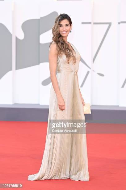 """Ariadna Romero walks the red carpet ahead of the movie """"Nuevo Orden"""" at the 77th Venice Film Festival on September 10, 2020 in Venice, Italy."""