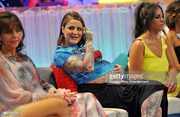 Ariadna Sanchez and Anabel Pantoja attend 'Supervivientes' semifinal gala on July 9 2015 in Madrid Spain