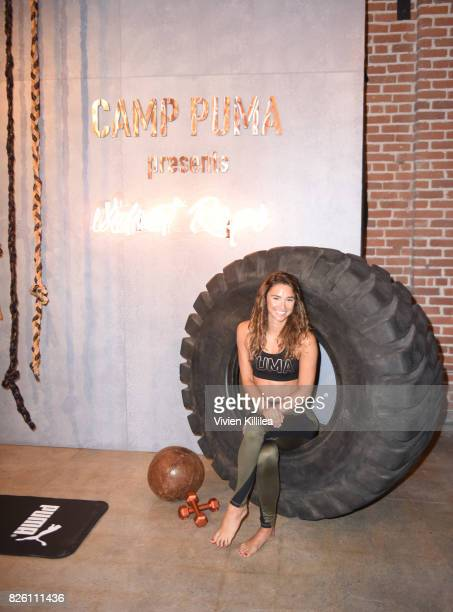 Ariadna Vickers attends PUMA Hosts CAMP PUMA To Launch Their Newest Women's Collection Velvet Rope at Goya Studios on August 3 2017 in Los Angeles...