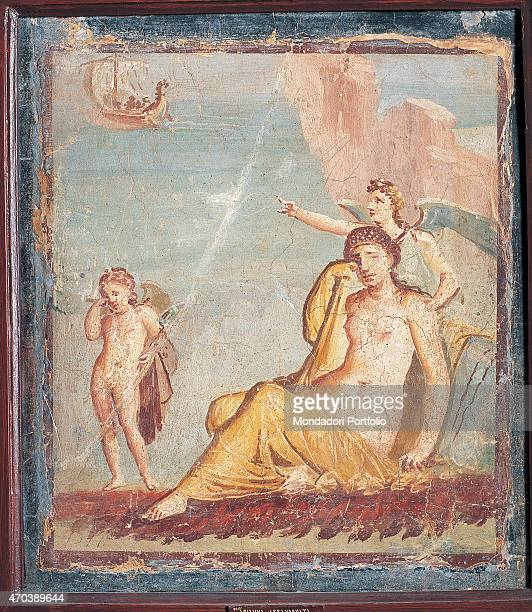 'Ariadne Abandoned by unknown artist 6279 1st Century AD ripped fresco 47 x 42 cm Italy Campania Naples National Archaeological Museum Room LXXII inv...