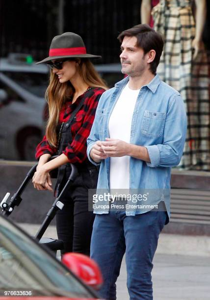 Ariadne Artiles and Jose Maria Garcia Fraile are seen on April 5 2018 in Madrid Spain