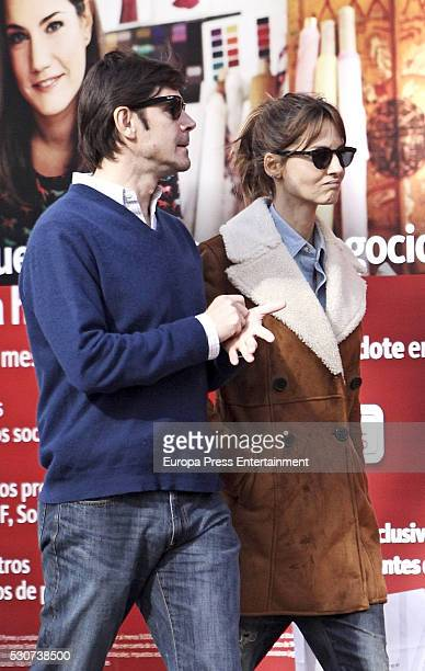 Ariadne Artiles and Jose Maria Garcia Fraile are seen on March 03 2016 in Madrid Spain
