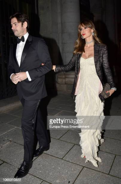 Ariadne Artiles and Jose Maria Garcia Fraile attend Luis Garcia Fraile's 40 birthday at Royal Theatre on November 24 2018 in Madrid Spain