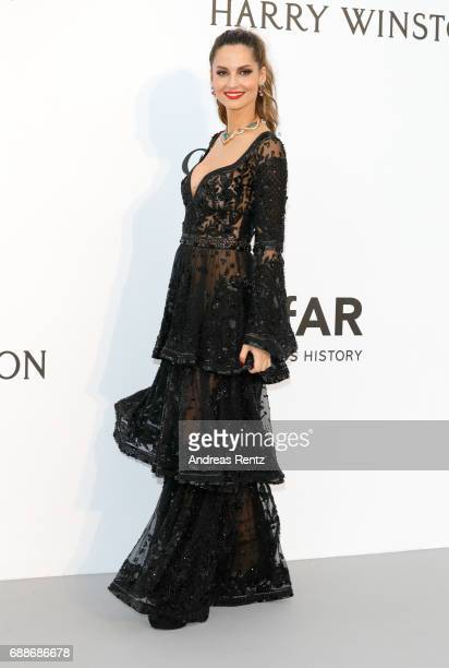 Ariadne Artiles arrives at the amfAR Gala Cannes 2017 at Hotel du CapEdenRoc on May 25 2017 in Cap d'Antibes France