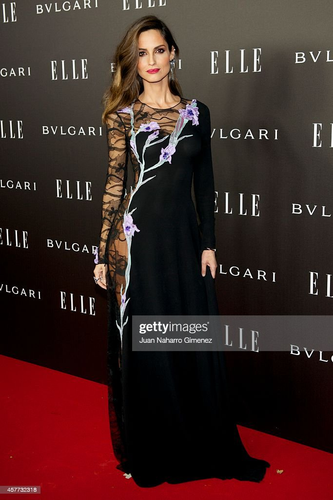 Ariadne Artiles attends Elle Style Awards 2014 photocall at Italian Embassy on October 23, 2014 in Madrid, Spain.