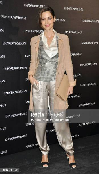 Ariadne Artiles attends Emporio Armani boutique opening on April 8 2013 in Madrid Spain