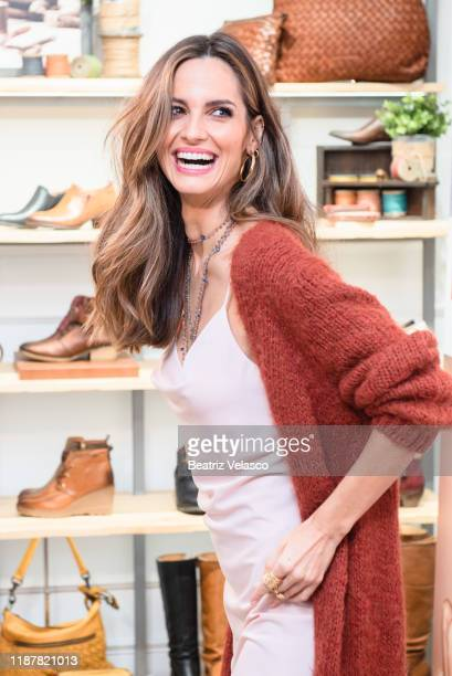 Ariadne Artiles attends Pikolinos photocall on November 15, 2019 in Madrid, Spain.