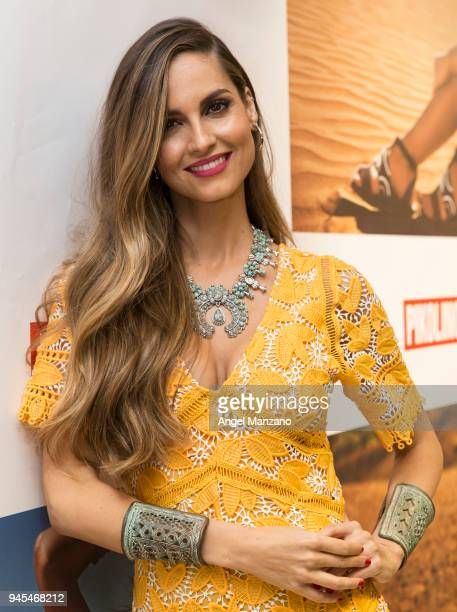 Ariadne Artiles attends project Maasai by Pikolinos presentation on April 12, 2018 in Madrid, Spain.