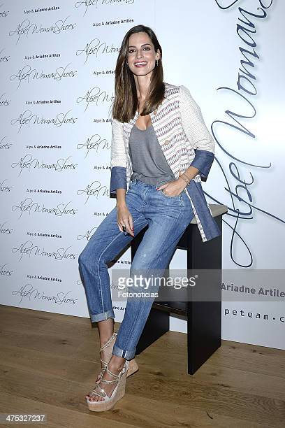 Ariadne Artiles presents the new ALPE shoes collection at la Moraga on February 27 2014 in Madrid Spain