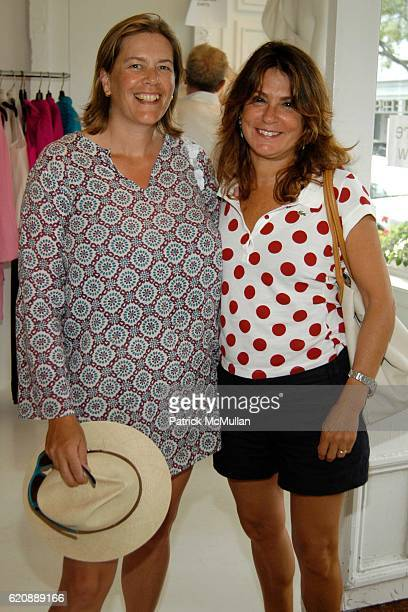Ariadne CalvoPlatero and Alessandra Dirobilant attend JACKIE ROGERS Fall Couture Trunk Show at Jackie Rogers on August 8 2008 in Southampton NY
