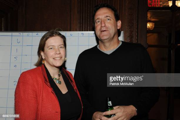Ariadne CalvoPlatero and Larry Coben attend SUPER BOWL Party at The Oak Room on February 1 2009 in New York City
